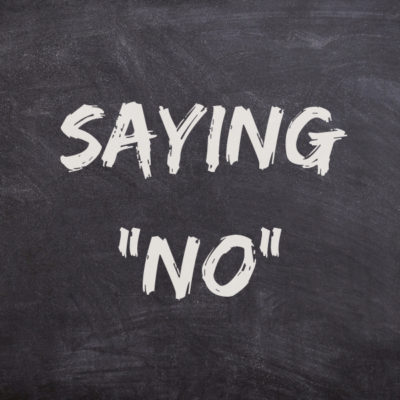 "Saying ""No"" As Massage Therapists"